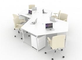 六人位創意辦公桌