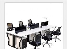 六人位簡約辦公桌