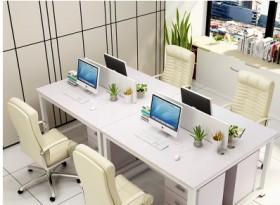 四人位簡約辦公桌